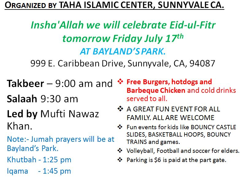 Eid Prayer & Celebration | Evergreen Islamic Center